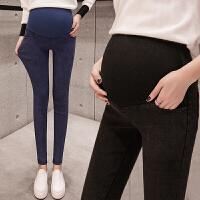 孕妇装秋天孕妇裤子秋冬装加绒加厚托腹2-5-10个月打底小脚牛仔裤外穿秋天XM-1