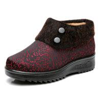 老北京布鞋女棉鞋秋冬加绒保暖中老年妈妈鞋软底老人奶奶鞋子