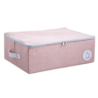 涤麻衣物收纳箱衣柜衣服收纳盒布艺大容量带盖整理箱储物箱 45cmx32cmx16cm