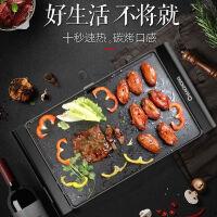 长虹电烤炉烧烤炉家用无烟电烤盘烤肉盘韩式不粘烤肉锅烤架烤肉机
