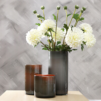 欧式田园花瓶花器棕灰软装饰品摆件客厅家居样板间陈设 家居软饰花艺花瓶摆件