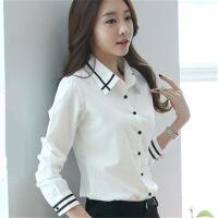 衬衫女士大码白色衬衫女长袖衬衫女学生韩版时尚女士衬衣