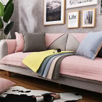 沙发垫简约现代布艺棉滑坐垫北欧组合包通用沙发套罩巾G定制
