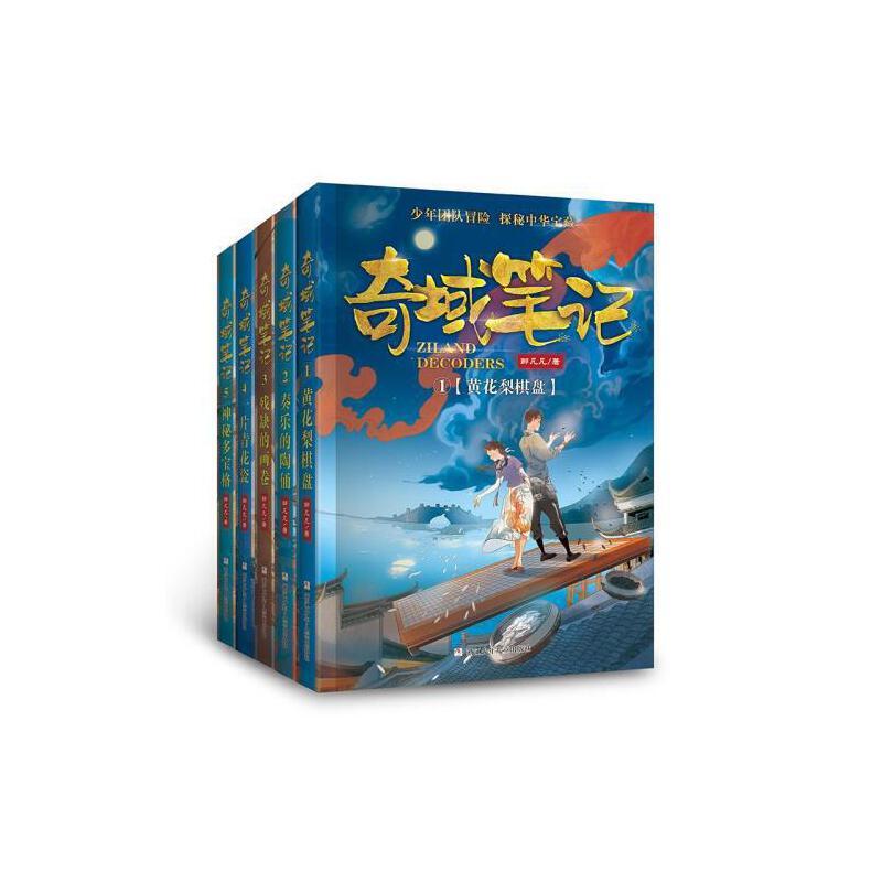 奇域笔记全套5册 三四五六年级课外书必读3-6年级小学生课外阅读文学书籍9-12-15岁儿童冒险小说国家宝藏探险历史书籍 畅销书