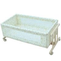 婴儿床实木无漆环保宝宝便捷式工字摇篮床bb床新生儿摇床a405zf08 工字小摇篮