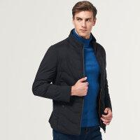 七匹狼棉服中青年男时尚休闲短装厚款立领男士棉衣冬季保暖外套