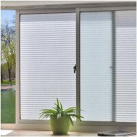 磨砂仿百叶玻璃贴膜卫生间浴室窗户贴纸办公室透光不透明防晒窗贴
