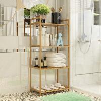 【热卖新品】架子置物架简易竹落地客厅卧室实木创意简约厨房储物架隔板置物架