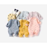 婴儿连体衣春秋季冬装保暖男女宝宝长袖睡衣哈衣爬服新生儿衣服