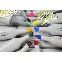 好吉森鹤///66K好品质法卡勒 油性酒精快干双头马克笔 手绘马克笔彩色画笔涂鸦笔标记笔水彩笔------------1套48色套装带笔座+送品88351