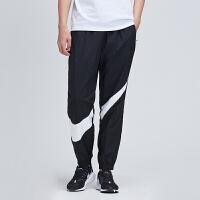NIKE男裤运动长裤2019新款黑白大LOGO收口小脚休闲运动服AR9895