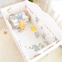 婴儿床上用品套件婴儿床围宝宝床品110 60120 7060防撞可拆洗