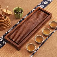 重竹托盘储水茶具竹制茶盘日式简约家用实木长方形排水茶台茶海