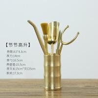 茶具配件 铜制六君子套装 家用功夫茶具茶夹茶勺茶针茶道零配摆件组