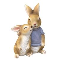萌哒哒小兔子装饰花园摆件家居装饰庭院树脂工艺仿真动物