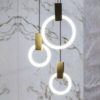 精美护眼时尚北欧创意LED沙发旁楼梯简约餐厅吧台创意床头卧室吊灯精美时尚吊灯