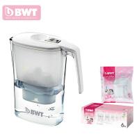 德国BWT倍世过滤水壶净水壶净水器 3.6升 阻垢款白色 蓝色 一壶八芯