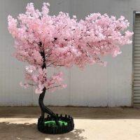 仿真樱花树婚庆大型室内装饰假树植物许愿树酒店商场花艺客厅桃树
