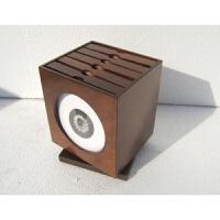 2019新品新品欧式木制旋转CD盒/木质cd盒/CD收纳盒/CD架/光盘盒cd包 深咖啡色