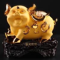 十二生肖招财金猪摆件 家居饰品 开业礼品乔迁新居树脂工艺品