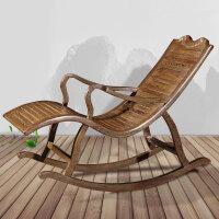 【新品热卖】逍遥椅单人懒人躺椅木阳台现代简约中式午休休闲摇椅 摇椅