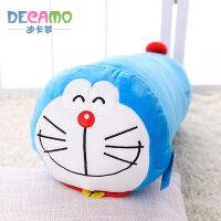 哆啦A梦圆柱长抱枕靠垫 叮当猫机器猫毛绒玩具枕头 哆啦A梦圆柱抱枕