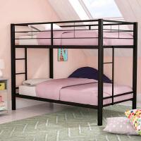 【优选】上下铺铁床员工宿舍 铁艺床双人双层床高低床铁架床1米单人床 其他 2米