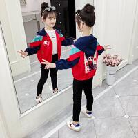 秋季中大童开衫外套2019新款韩版女童秋装时尚洋气夹克