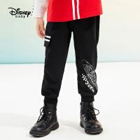 【3折券后价:57.2元】迪士尼男童工装长裤2021春装洋气童装儿童宝宝卡通针织裤子潮