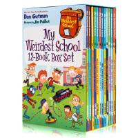 疯狂学校第四季12册盒装 英文原版 My Weirdest School 美国小学推荐读物初级章节桥梁漫画书搞怪校园故