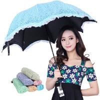 包邮!天堂 浩瀚星空 天堂伞三折晴雨伞黑胶遮阳伞 不透光伞 美丽太阳伞