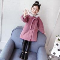 女童毛呢外套秋冬2018新款韩版洋气儿童中长款呢子冬装女孩呢大衣