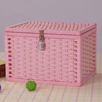 带锁收纳盒家用柜百宝箱大号整理箱密码包箱子学生书宿舍加上储物
