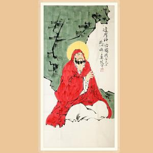 中国美协会员 范曾(达摩神悟图)ZH526附证书