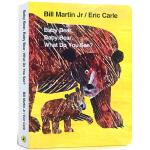 英文原版绘本 艾瑞卡尔爷爷经典 Baby Bear What Do You See? 小熊,你看到了什么? Eric