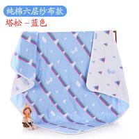新品纯棉浴巾加厚大柔软吸水6层纱布新生婴儿童宝宝全棉毛巾被盖毯子