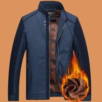 中年男装秋装外套加绒加厚父亲装45岁55中老年人男65爷爷冬装夹克