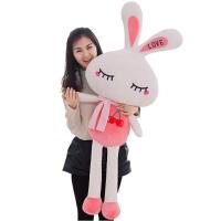 兔子毛绒玩具女生公仔娃娃小白兔少女心粉色玩偶儿童韩国礼物女孩