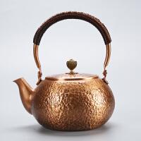唐丰锤纹铜壶家用大容量提梁壶手工复古烧水壶功夫泡茶老式
