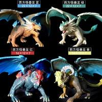 恐龙玩具霸王龙怪兽西方飞龙魔龙魔兽 儿童男孩仿真动物模型