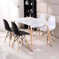 【新品热卖】田园靠背椅子简约组合经济型培训椅创意北欧学习桌办公餐桌大排档