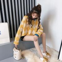 哺乳毛衣哺乳秋装上衣长袖辣妈款毛衣秋冬季外出时尚款2018新款喂奶哺乳衣MYZQ90 均码