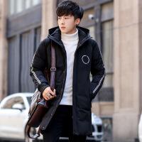 男士棉衣外套冬季新款修身青年连帽保暖修身时尚棉袄潮 1788黑色 M
