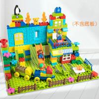 积木玩具拼装大颗粒儿童3-6周岁宝宝男孩子10女孩 桶装-160颗粒 送图册