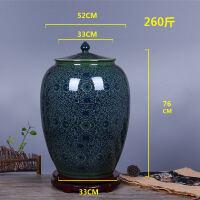 景德镇陶瓷米缸米桶20斤50斤百斤带盖油缸酒缸储米罐储物罐家用