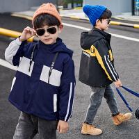 2019新款儿童中长款夹棉风衣中大童上衣男童秋冬装加厚洋气外套