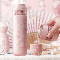 茶水分离泡茶保温杯男不锈钢高档便携水杯女士花茶杯过滤创意