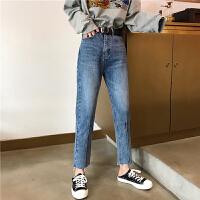 三木子快时尚女装~春款韩版宽松显瘦百搭九分牛仔裤