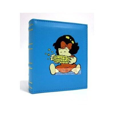 仿皮相册 4D/大6寸相册 100张 黑色内芯插袋相册 玉米女孩 品质优越 整理相片小帮手