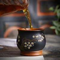 唐丰紫砂品茗杯家用办公小茶杯仿古陶瓷梅花主人杯建盏礼装